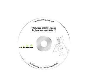 Phillimore Cheshire Parish Register Marriages Vols 1-5