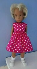 BJB Vintage Sasha doll clothes, Pretty cerise pink and white spotty dress