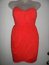 bebe XS Bright Coral Dress Orange Sundress Summer Vegas Graduation Wedding Party