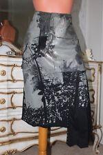 (11) PIANURASTUDIO Design Italien Coton élasthanne Mix Jupe Taille 18 UK 46EU