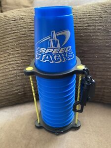 Speed Stacks 12 Stacking Cups Flames WSSA Official With Timer And Stand Blue