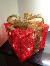 Impresionante Rojo + Gold Sisal iluminan parcel/20 lights/christmas/birthday / actualidad