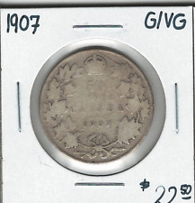 Canada 1907 Silver 50 Cents G/VG