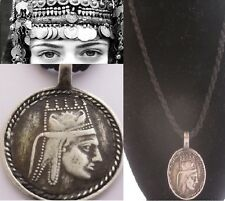 SILVER King Tigranes TIGRAN GREAT Coin ARMENIAN Vintage PENDANT NECKLACE Jewelry