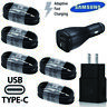 OEM Samsung Galaxy S10 S9 S8 + note8 Type C Cord Cable FAST Car Wall Charger LOT