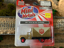 Ho Scale 1:87 Mini Metals '60 1960 Ford Box Truck Lone Star Beer #30441 New !
