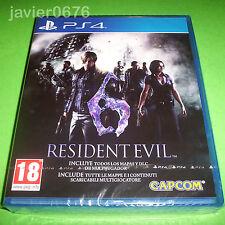 RESIDENT EVIL 6 NUEVO Y PRECINTADO PAL ESPAÑA PLAYSTATION 4 PS4