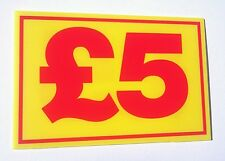 MARKET TRADER £5 PRICE CORREX SIGN BOARD DOUBLE SIDED & WATERPROOF