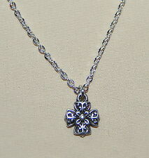 New BRIGHTON Eternity Cross CELTIC charm on custom necklace  FREE SHIPPING !