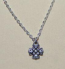 New BRIGHTON Eternity Cross CELTIC charm on custom necklace  FREE SHIPPING !