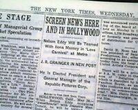 Very Early WIZARD OF OZ Actress Judy Garland SONG 1st Mention 1938 Old Newspaper