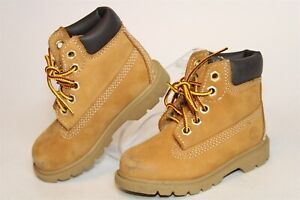 Timberland Toddler Boys 7 23.5 Classic 6-Inch Leather Lace Up Work Boots 10860