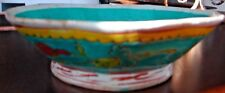 Antique Chinese Porcelain Pottery hand painted Footed bowl dish