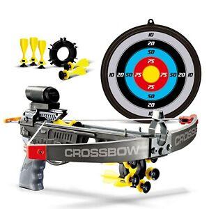 Kids Infrared Crossbow Set With Bolts Target Gun Archery Shooting Garden Toy Fun