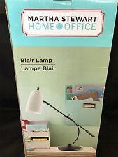 Martha Stewart Home Office ~ Blair Lamp ~ Robins Egg Blue Shade New (Other)