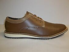 Guess Size 12 M HORTEN Brown Leather Oxfords New Mens Shoes