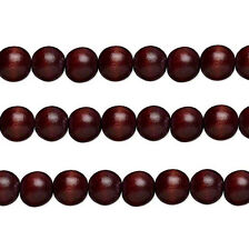 Wood Round Beads Chocolate 8mm 16 Inch Strand