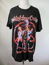 "F3088 Motley Crue The Final Tour"" Heavy Metal Band Graphic T-Shirt Size L"