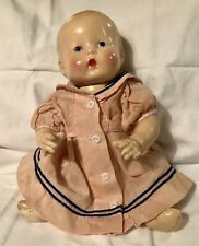 "Vintage Composition Baby Doll Gem, 13"", Painted eyes, very good"