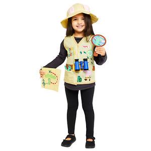 Childs George the Explorer Fancy Dress Costume Set Book Day Peppa Pig Kids Boys
