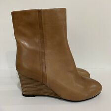 LADIES LEATHER COLLECTION BLACK BROWN MID HEEL ZIP UP WINTER ANKLE BOOTS F50656