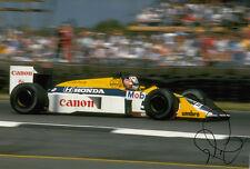 Nigel Mansell Hand Signed Williams 1992 World Champion Photo 12x8 2.