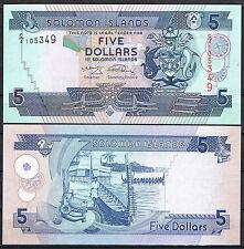 SOLOMON ISLANDS - ISLAS SALOMON 5 DÓLARES 2009 Pick 26  SC  UNC