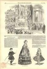 1852 Mlle Rachel réciter Ode avant pres THEATRE Paris mode hiver