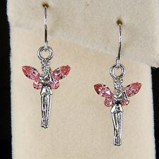 w Swarovski Crystal Pink Tinker Bell Tinkerbell Fairy ANGEL PIXIE Wings Earrings