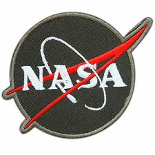 NASA Logo Sign Symbol Space Discovery Astronaut Planets Olive Iron-On Patch 0704