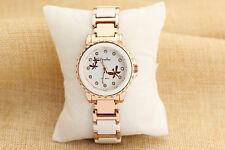 Womens Watches Wristwatch Watch Vintage Gold Plated CZ Swiss