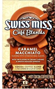 Swiss Miss Cafe Blends Caramel Macchiato&Cocoa Coffee Blend 6 Sachets x 1.38 oz
