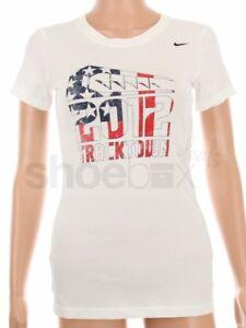 Nike Women's Dri-Fit USA Olympic Track & Field 2012 Red White Blue Shirt 558426