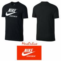 SZ LARGE 🆕 Nike Sportswear 100% Cotton Black/White T-Shirt Tee Men's AJ7451-010