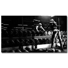 Bodybuilding Fitness Inspirational Art Silk Poster 24x43 inch Gym Room Decor 011