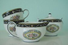 Runnymede Wedgwood Creamer, Sugar bowl, 2 Teacups and Saucers Set