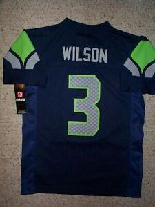 *IRREGULAR* Seattle Seahawks RUSSELL WILSON nfl Jersey YOUTH KIDS BOYS (m-medium
