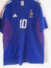 Francia Zidane 10 2002-2004 Hogar Camiseta De Fútbol Talla XL/43945