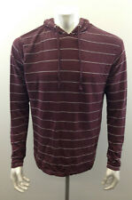 Company 81 Mens Extra Large Burgandy Striped Long Sleeve Draw String Hoodie