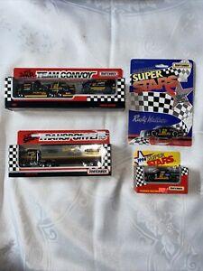 Matchbox Super Star 1992 Team Convoy & Hauler, 2 cars 1994 Rusty Wallace #2 4pcs