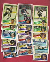 18 X 1984-85  OPC / TOPPS NHL PLAYERS  CARD