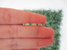 .07 Carat Diamond Yellow Gold Half Eternity Ring 14k HE187 sep