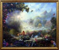 Tom Dubois Breath of Life-Adam and Eve SN Print-Framed  28.5 x 22'