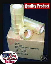 """24 Rolls 110 YD 3"""" QUIET-LOW NOISE Clear Carton Sealing Packaging Shipping Tape"""