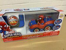 "MARVEL SUPER HERO ADVENTURES SPIDER-MAN BUGGY 8.5"" RC RADIO CONTROL VEHICLE NEW"