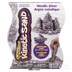 Metallic Silver KINETIC SAND 1lb Pack Creative Activity