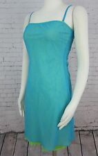 GUESS Jeans - Aqua & Lime Double Layer Slip Style Knit Dress size Small