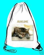 Sac de piscine  sac de gym chat  réf 56 prénom personnalisable