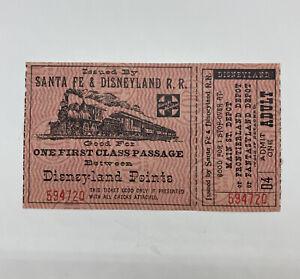 1957 Disneyland Santa Fe railroad train ticket coupon original Disney Rare