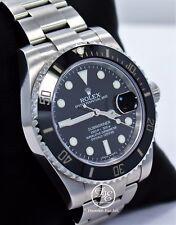 Rolex Uboot 116610 Datum Keramik Blende Uhr Kasten und Papiere Mint Zustand